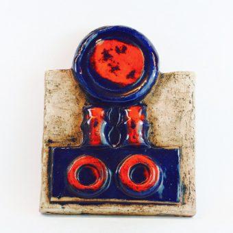 Keramiktavla - Väggplatta från Laholms keramik abstrakt helhet