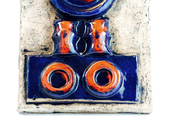 Keramiktavla - Väggplatta från Laholms keramik abstrakt detalj nedre motiv