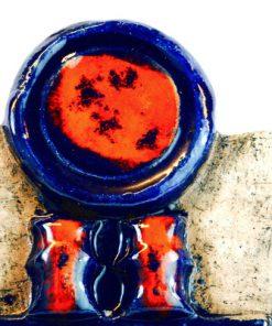 Keramiktavla - Väggplatta från Laholms keramik abstrakt detalj motiv