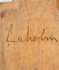 Keramiktavla - Väggplatta från Laholms keramik abstrakt detalj signatur
