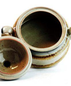 Keramikgryta med lock - Karott och soppskål Hartsteingut insida
