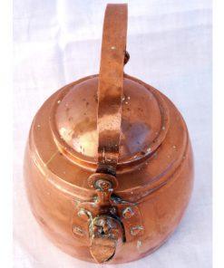 Kopparpanna - Kaffepetter med piplock och nitar piplock och fäste