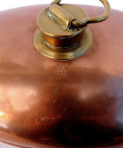 Kopparvärmare - Sängvärmare Zweiseitig Kopperplattieri EH detalj mässinglock