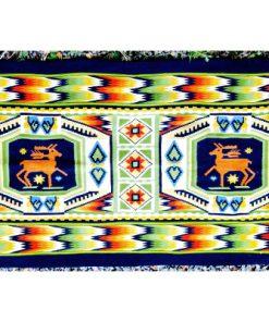 Bonad - väv agedyna i rölakan i ylle motiv älg eller ren helhet
