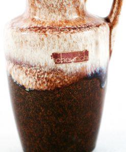 Keramikvas - Fat Lava Scheurich original etikett detalj glasyr