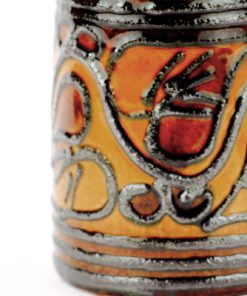 Keramikvas - Fat Lava Strehla Keramik silver East Germany detalj glsasyr