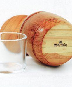 Träburk - Marmeladburk med lock av Smålandsslöjd glasbehållare