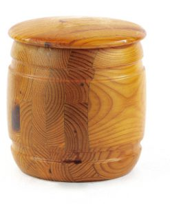 Träburk - Marmeladburk med lock av Smålandsslöjd helhelt