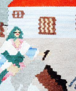 Flamskvävnad - Väggbonad tapestry av ullgarn