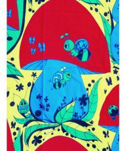 Retrotextil - Sienelä av Paula Virtanen, E. Helenius Oy detalj svamp