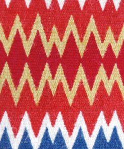 Allmogetextil - Duk hemvävd röllakan ull och bomull detalj mönster