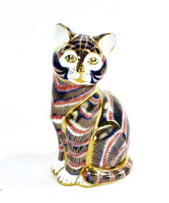 Kattfigurin - Royal Crown Derby Cat English Bone China figurin