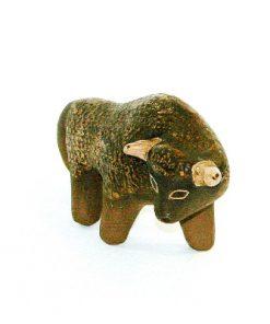 Keramiktjur - Figurin signerad KE IWAR Farsta studio huvud