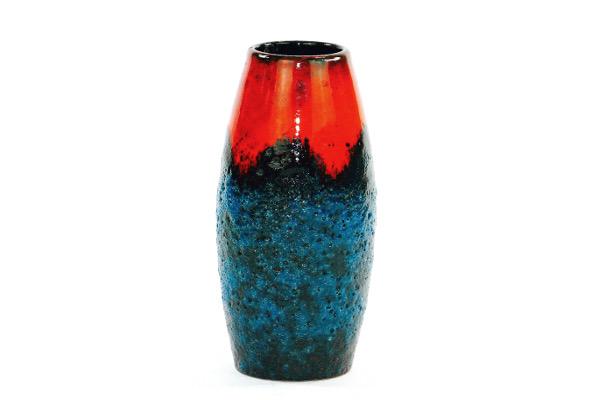 Keramikvas - Scheurich Fat Lava W.Germany 522/18 helhet
