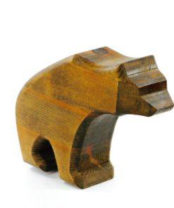 Träskulptur - Snidad träbjörn av Rose Marie & Ivar Sörviken helhet