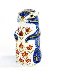 Ekorre - Royal Crown Derby Chipmunk Paperweight Gold Stopper whole