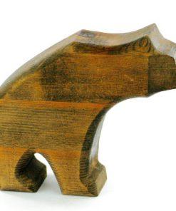 Träskulptur - Snidad träbjörn av Rose Marie & Ivar Sörviken sida