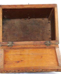 Näverlåda med lock - Helnäver antik 1800-tal oppning