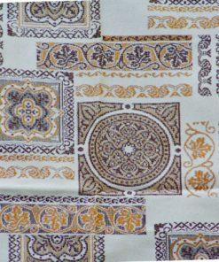 Guldbrokad - jaquardvävd gardin- och drapperilängd detalj