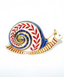 Snigel – Papperspress Royal Crown Derby Snail paperweight helhet