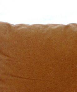 Broderad kudde - Korsstygn blomsterbukett i farg detalj baksida