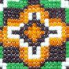 Broderad kudde - Korsstygn grafiskt dekorativt kors detalj