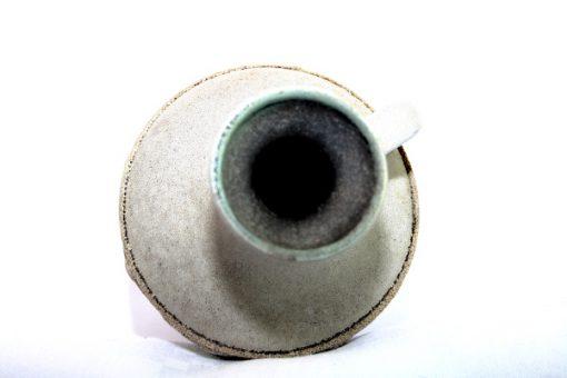 Keramikvas – Fat Lava Strehla Keramik 1304 East Germany oppning