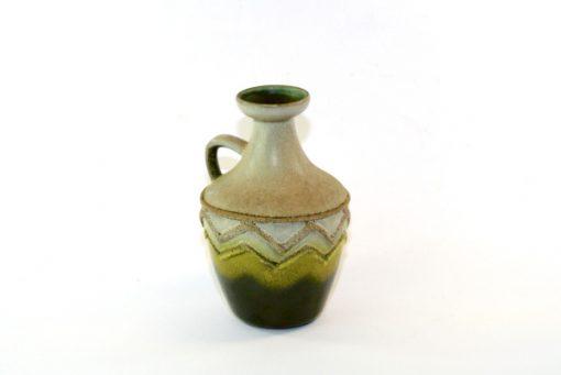 Keramikvas – Fat Lava Strehla Keramik 1304 East Germany vanster