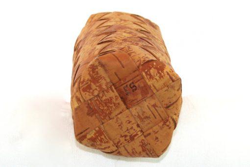 Näverflaska med hatt – Flätad av björknäver signerad ES botten signatur