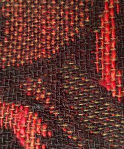 Draperi - Retrotextil vävd ull mustiga färger och mönster detalj