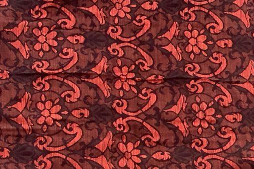 Draperi - Retrotextil vävd ull mustiga färger och mönster helhet