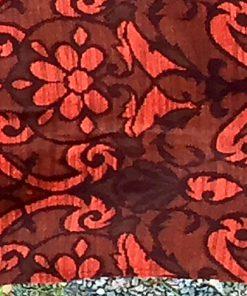 Draperi - Retrotextil vävd ull mustiga färger och mönster kant framsida