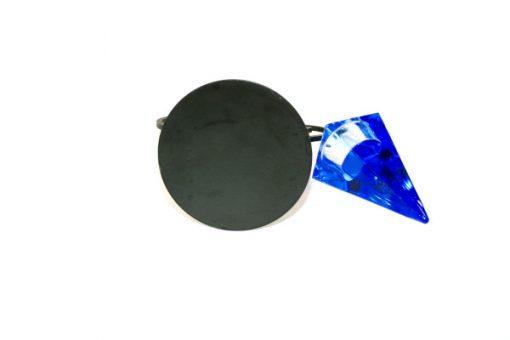 Ljushållare - Ljusstake konstsmide med glasprisma undersida