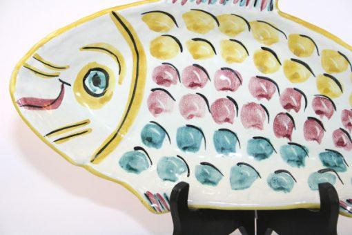 Keramikfat – Fiskfat fajans troligen Nittsjö detalj