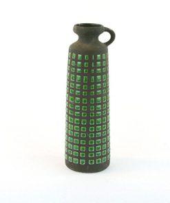 Keramikvas – Rutig Strehla Keramik 1227 East Germany helhet