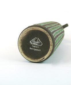 Keramikvas – Rutig Strehla Keramik 1227 East Germany undersida