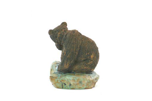 Björn - Skulptur Harry Tilgmans keramik hona & ungem sida