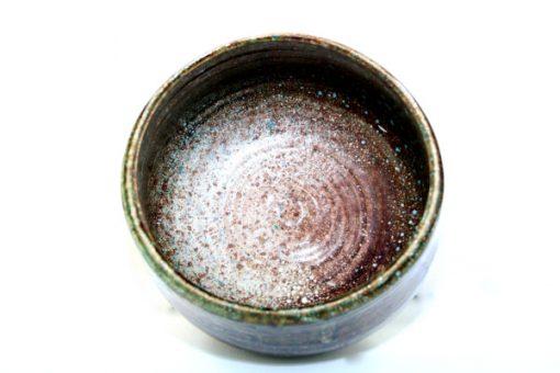 Keramikskål - Handdrejad grönglaserad signerad insida