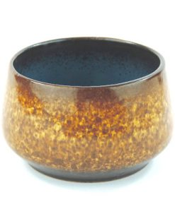 Keramikskål – Fat Lava Strehla Keramik 7013 East Germany helhet