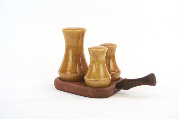 Teak - Kryddställ med keramikströare Made in Sweden