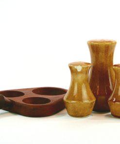 Teak - Kryddställ med keramikströare Made in Sweden nagg