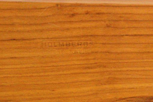 Teakbricka - Bricka från Holmbergs Götene med glasskålar detalj stampel