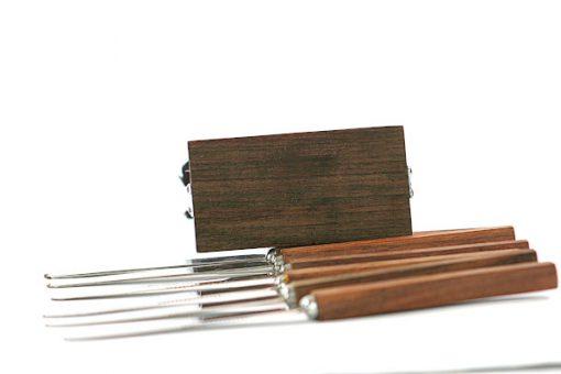 Teakställ – Fruktknivar stämplat Stainless Steel Japan undersida