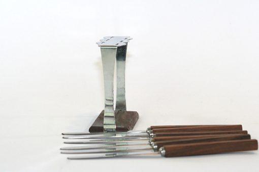 Teakställ – Fruktknivar stämplat Stainless Steel Japan detalj