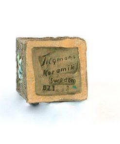 Keramikvas – Blockvas 671 från Tilgmans Keramik insida signatur