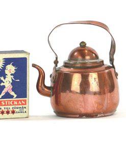 Kopparminiatyr - Kaffepetter, kopparkanna med lock