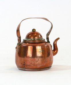 Kopparminiatyr - Kaffepetter, kopparkanna med lock sida