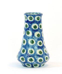 Vas – Mindre majolika blå och vit Jugend & Art Noveau