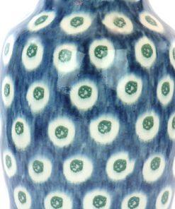 Vas - Blå och vit urna majolika Jugend & Art Noveau detalj