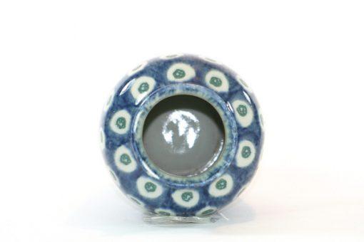 Vas - Blå och vit urna majolika Jugend & Art Noveau insida